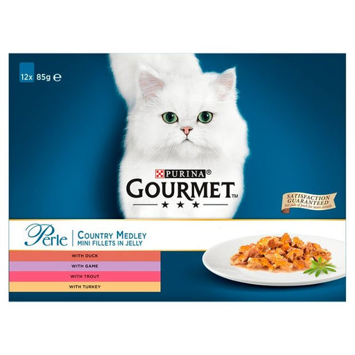 Gourmet Perle Cat Food Pouches Country Medley 12 x 85g