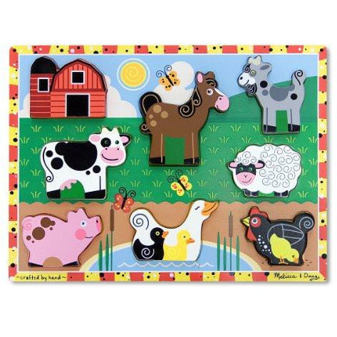 Melissa & Doug Farm Chunky Puzzle - British Essentials - 2