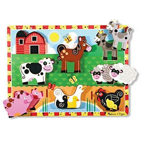 Melissa & Doug Farm Chunky Puzzle - British Essentials - 3