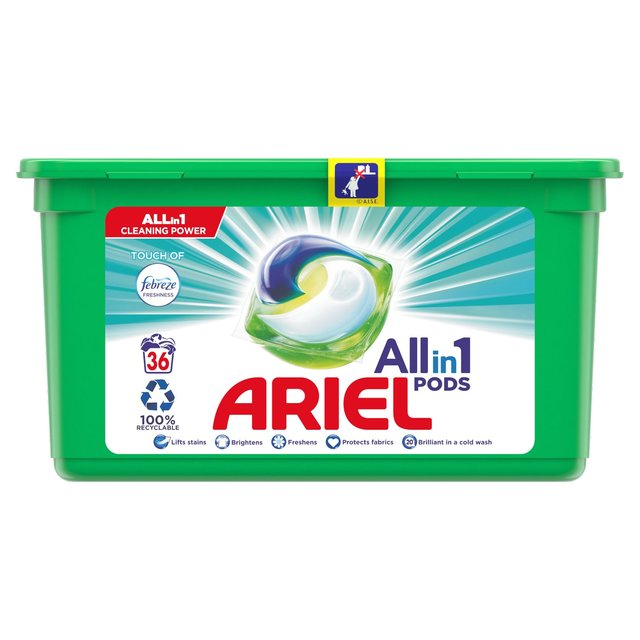 Ariel Touch of Febreze All-in-1 Pods 36 Washes