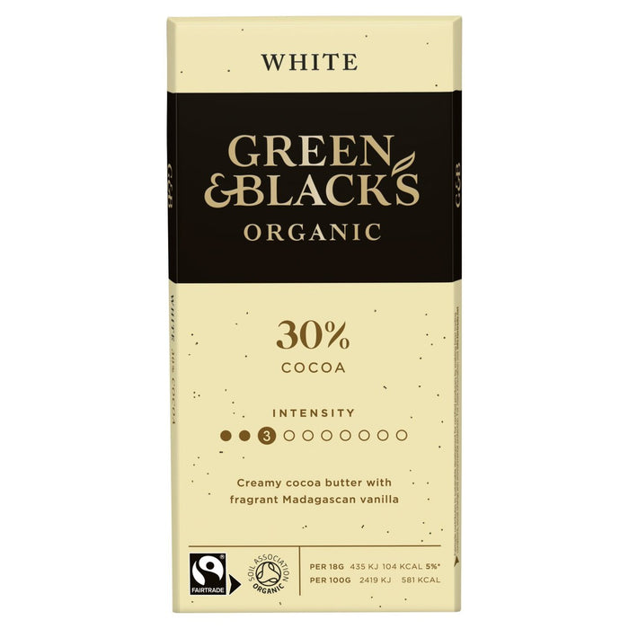 Green & Black's White Chocolate 90g