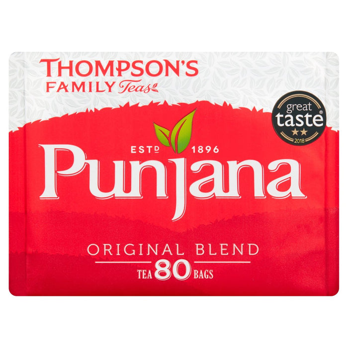 Thompsons Punjana Tea Bags 80 per pack