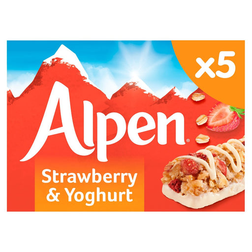 Alpen Cereal Bars Strawberry & Yoghurt 5 x 29g