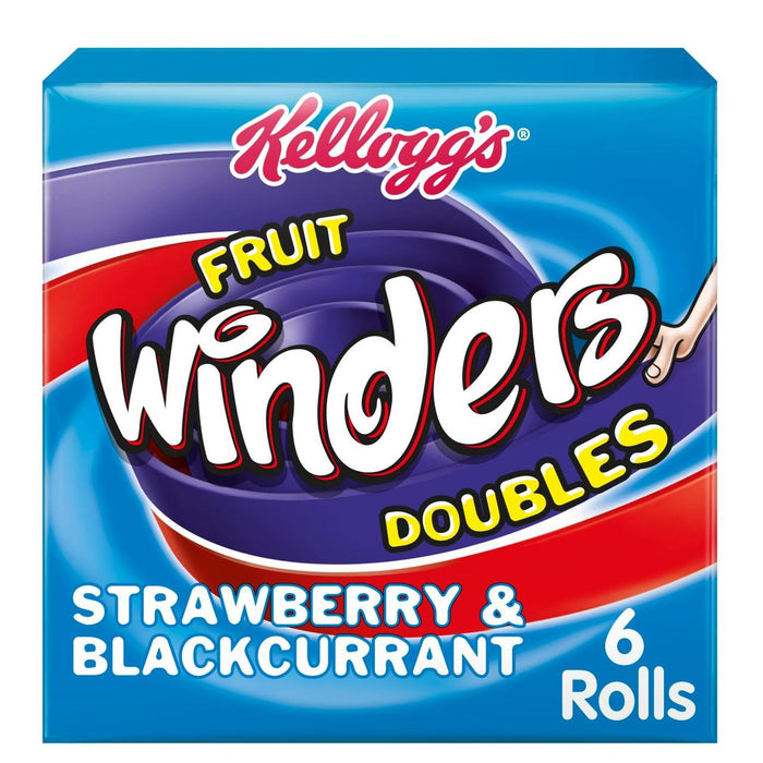 Kelloggs Fruit Winders Strawberry & Blackcurrant 6 x 17g