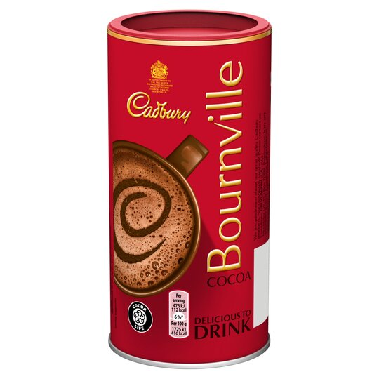 Cadbury Bournville Hot Chocolate Cocoa Powder 250g