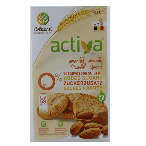 Activa No Added Sugar Almond Biscuits 160g