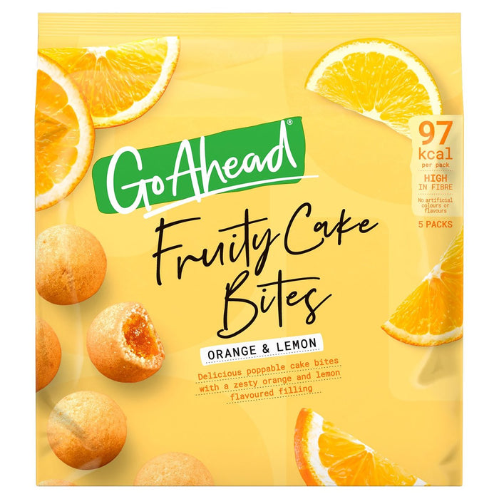 Go Ahead Fruity Cake Bites Orange & Lemon 136g