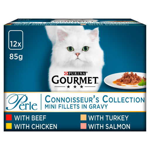 Gourmet Perle Connoisseurs Cat Food Mixed 12 x 85g