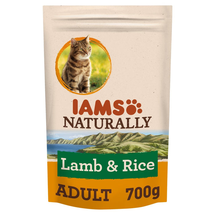 Iams Naturally Adult Cat with New Zealand Lamb & Rice 700g