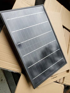 12v 10w Monocrystalline Solar Panel All Black with anodized aluminum frame