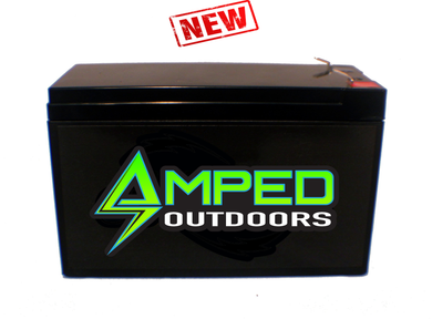 12v LITHIUM BATTERY (LIFEPO4) 12 AH Amped Outdoors Ships Free
