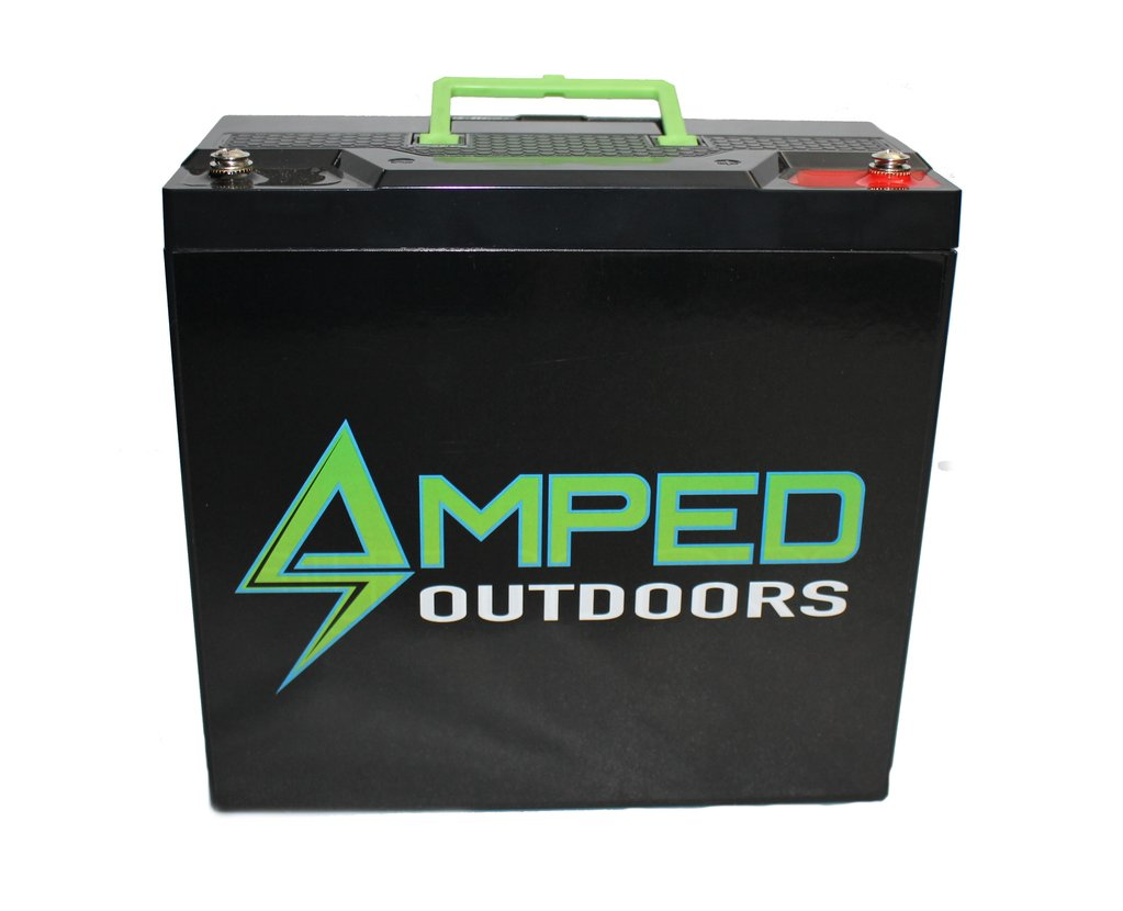 Amped Outdoors 30AH LITHIUM BATTERY (LIFEPO4) ( REPLACES 20AH, SAME SIZE AND WEIGHT)