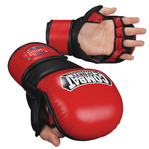 Combat Sports, Leather, MMA, Safety Sparring Gloves