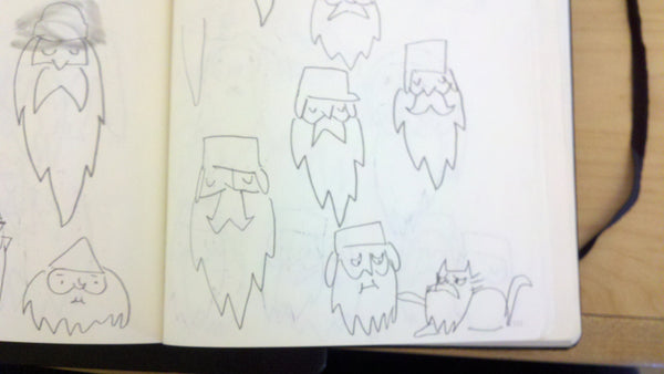 Original sketches for Frostbeard