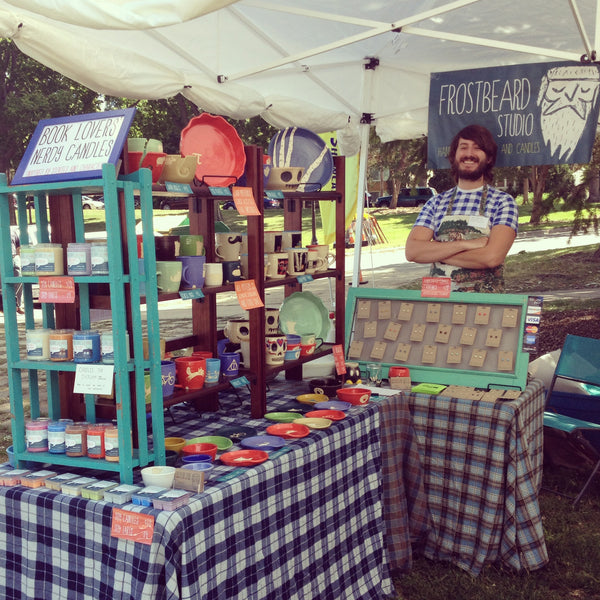 Selling at the Community Showcase in the Powderhorn Art Fair
