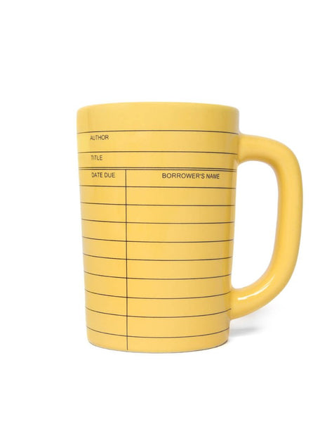 Library Card Mug Out of Print