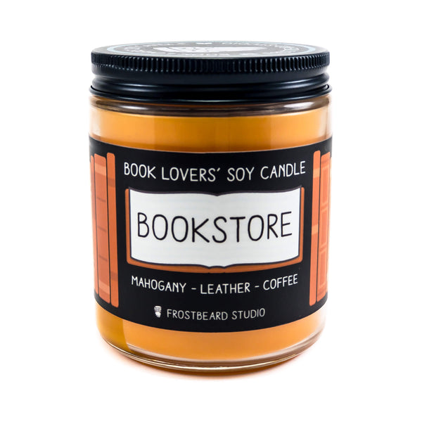 Bookstore - Book Lover's Soy Candle - Frostbeard Studio