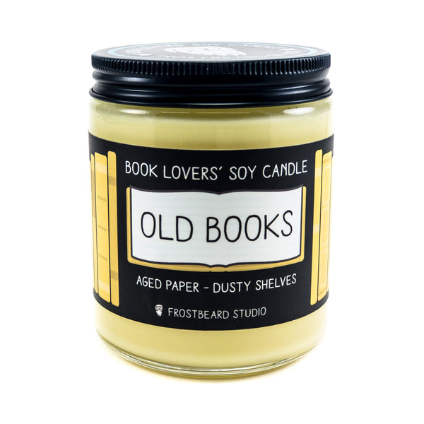 Old Books - Book Lovers' Soy Candle - Frostbeard Studio