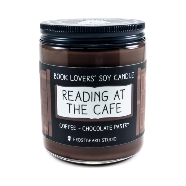 Reading at the Cafe - Book Lovers' Soy Candle - Frostbeard Studio