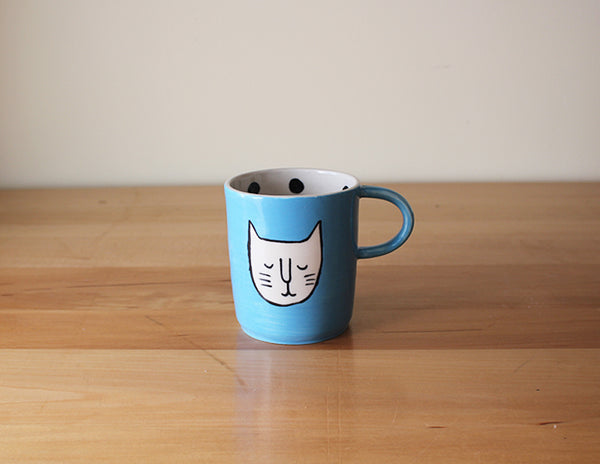 Beard Bangs Cat Mug