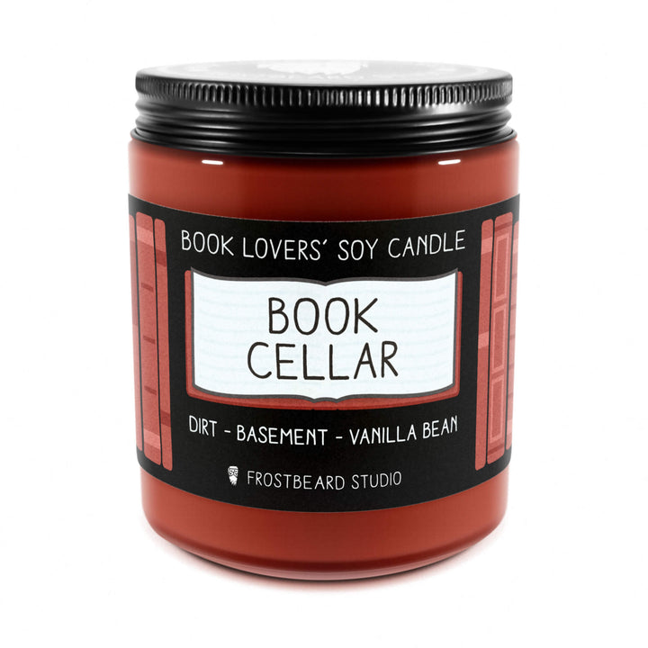 Book Cellar - 8 oz Jar - Book Lovers' Soy Candle - Frostbeard Studio