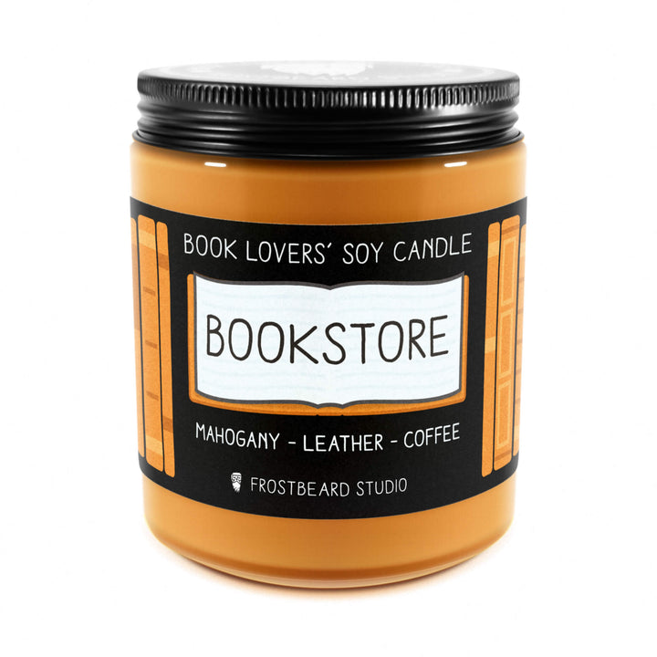 Bookstore - 8 oz Jar - Book Lovers' Soy Candle - Frostbeard Studio