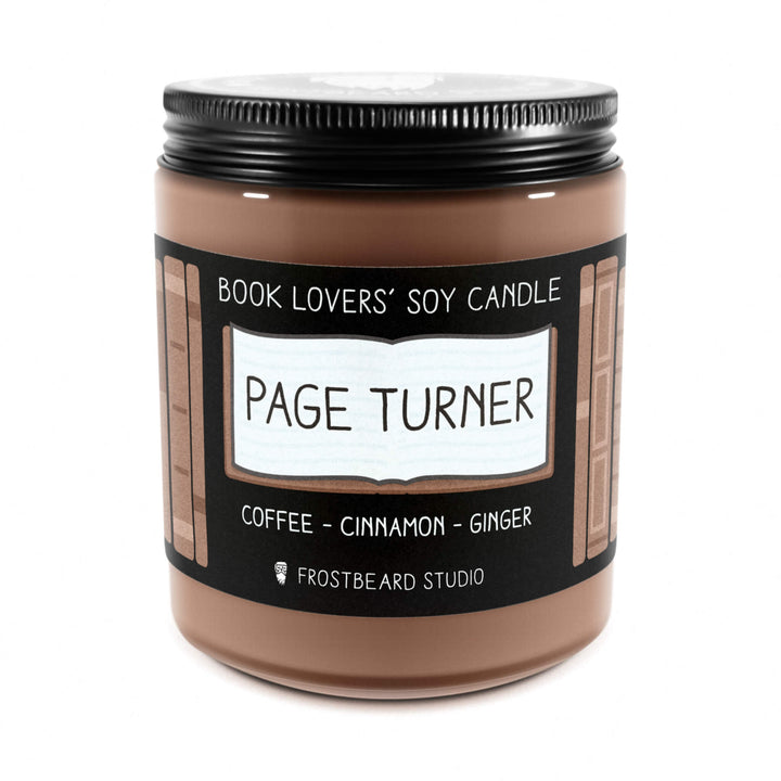 Page Turner - 8 oz Jar - Book Lovers' Soy Candle - Frostbeard Studio