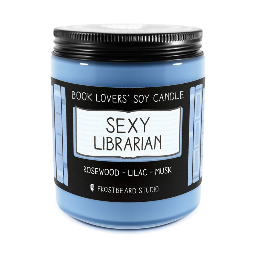 Sexy Librarian - 8 oz Jar - Book Lovers' Soy Candle - Frostbeard Studio