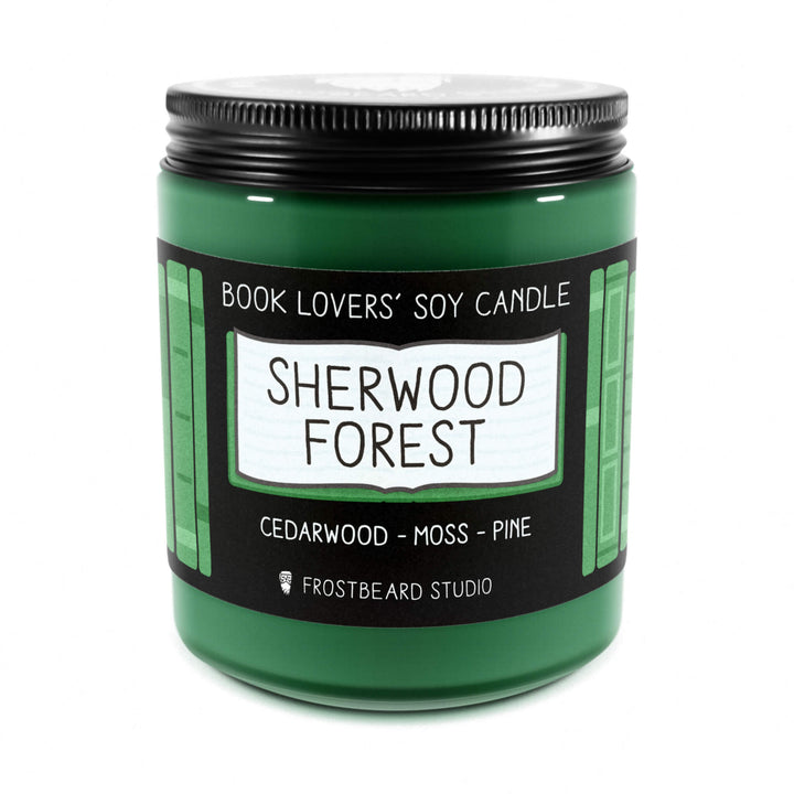 Sherwood Forest - 8 oz Jar - Book Lovers' Soy Candle - Frostbeard Studio