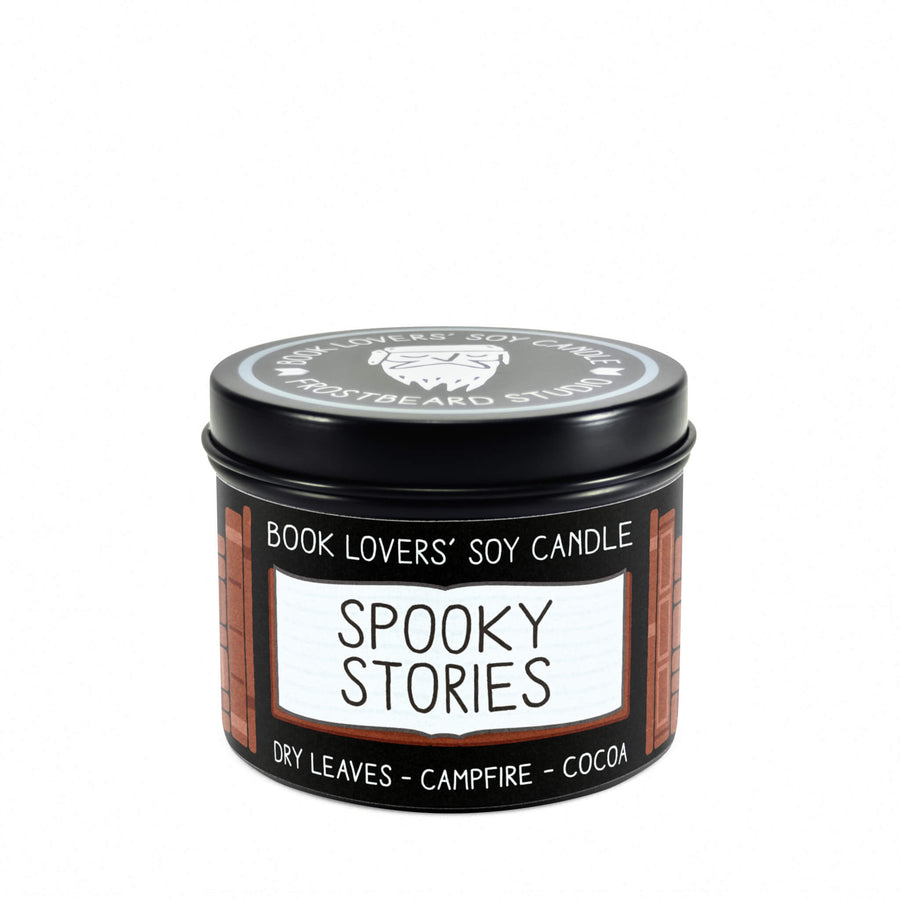 Spooky Stories - 4 oz Tin - Book Lovers' Soy Candle - Frostbeard Studio