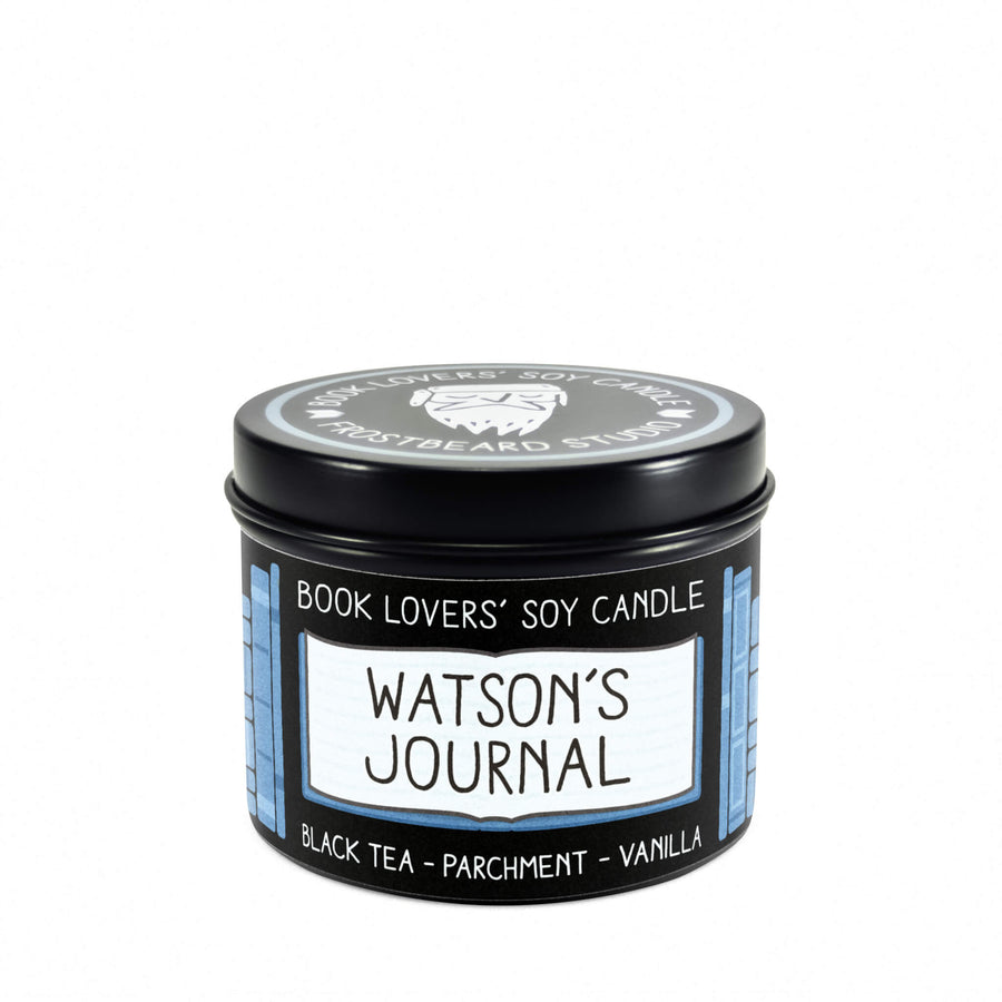 Watson's Journal - 4 oz Tin - Book Lovers' Soy Candle - Frostbeard Studio