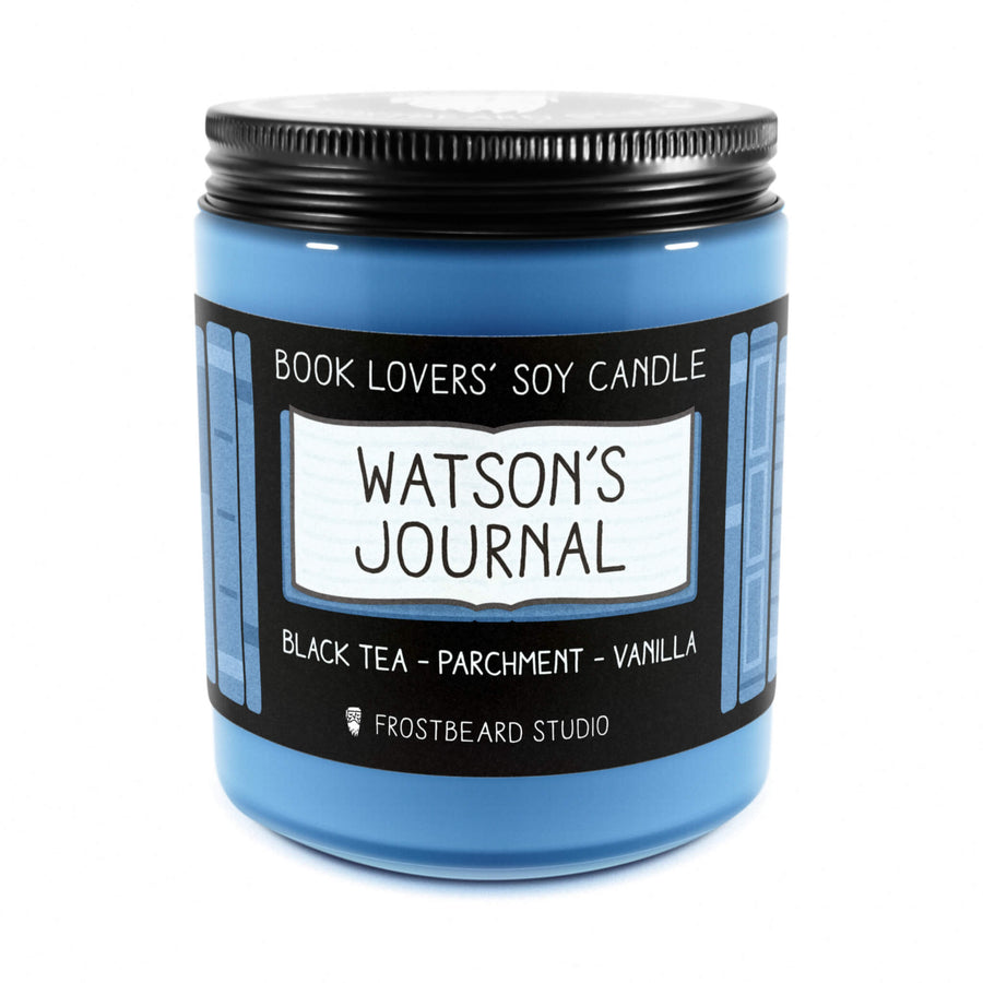 Watson's Journal - 8 oz Jar - Book Lovers' Soy Candle - Frostbeard Studio