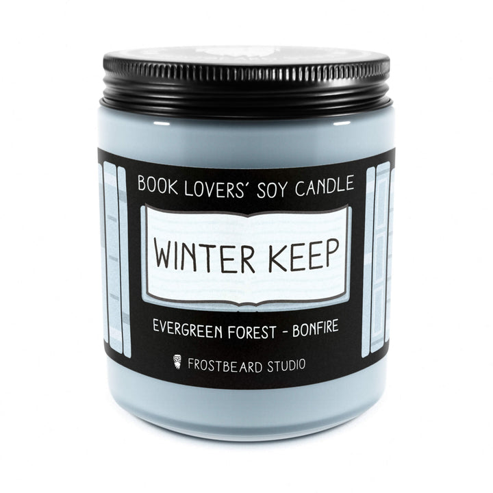 Winter Keep - 8 oz Jar - Book Lovers' Soy Candle - Frostbeard Studio