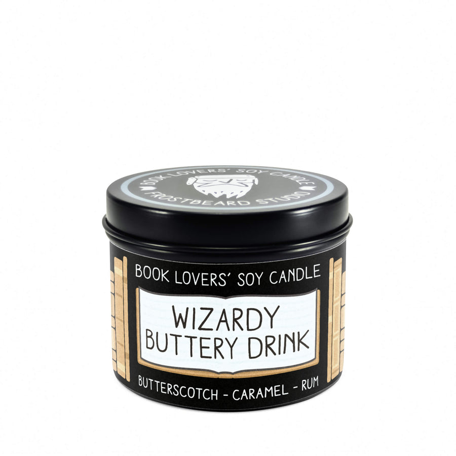 Wizardy Buttery Drink - 4 oz Tin - Book Lovers' Soy Candle - Frostbeard Studio
