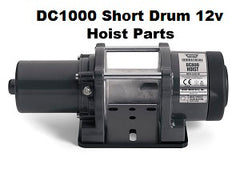 WARN DC1000 12v Short Drum Hoist Parts