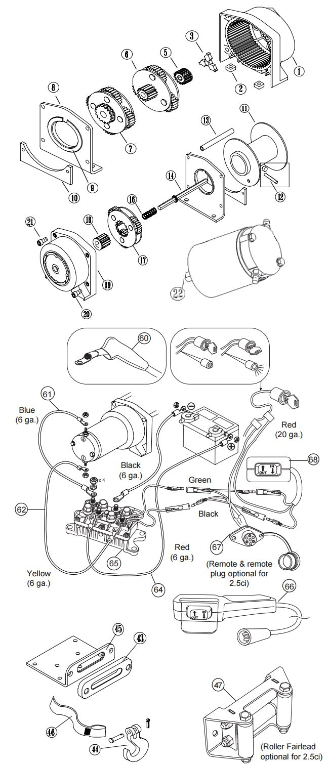 Warn Winch Schematic - Wiring Diagram Completed