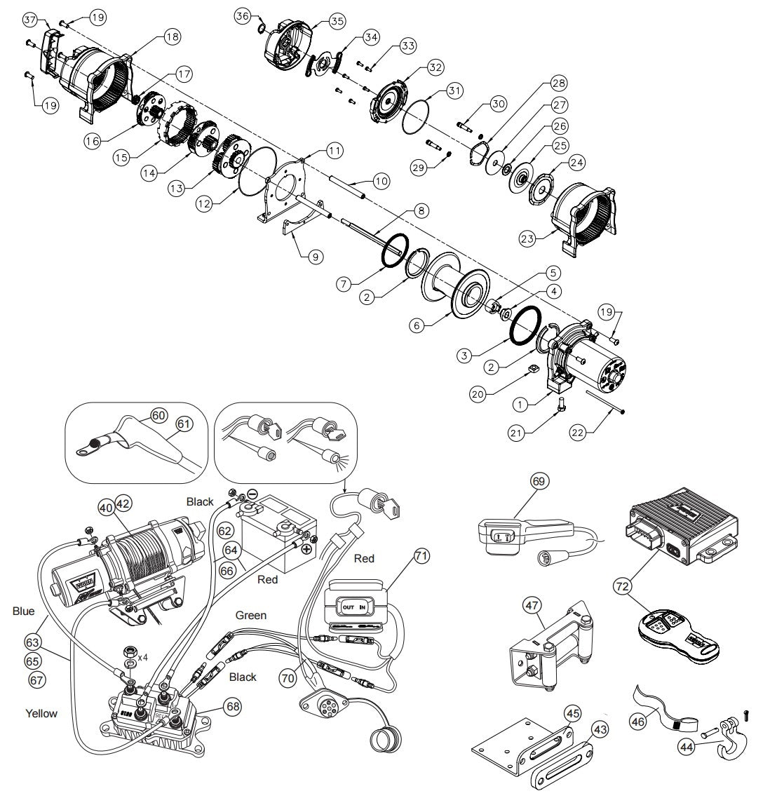 5ci Warn Winch Wiring Diagram 2 Warn Winch 2500 Wiring