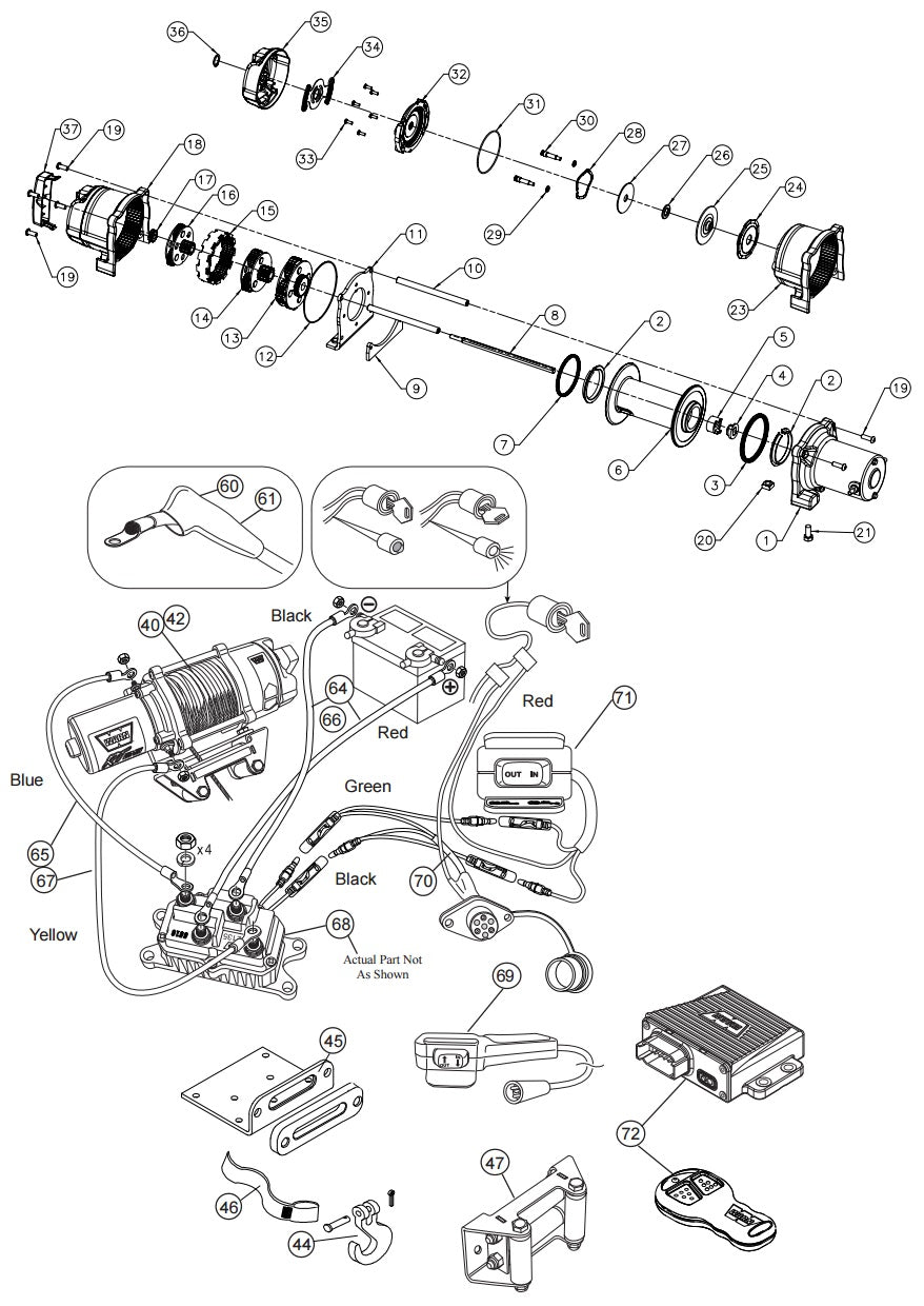 WARN XT-RT 40 Winch Parts