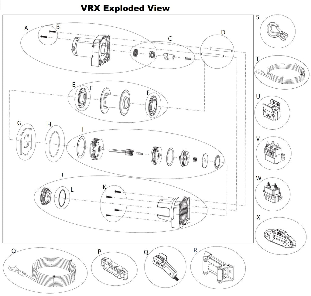 WARN VRX 3500 ATV Winch Parts – Page 2