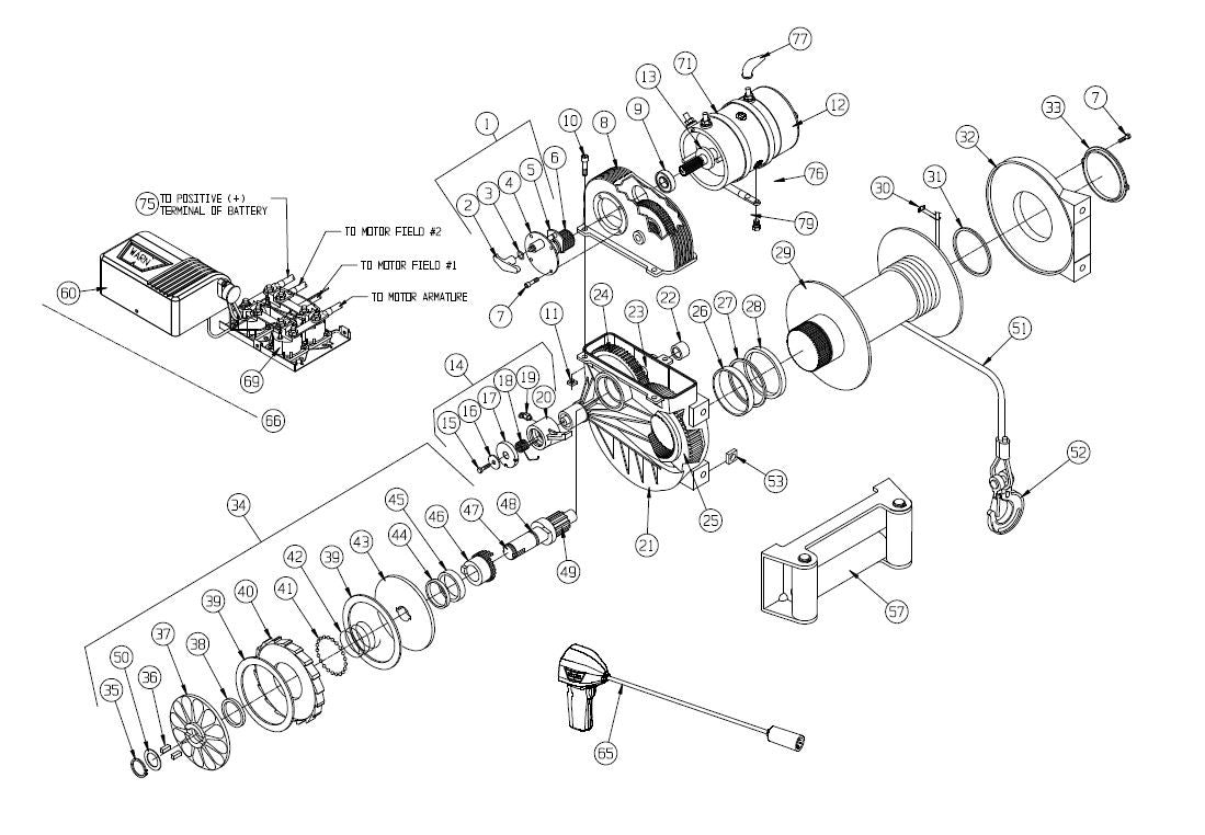 5ci Warn Winch Wiring Diagram 2 Smart Diagrams 9 5ti Parts Library Electrical For 9000 Schematic