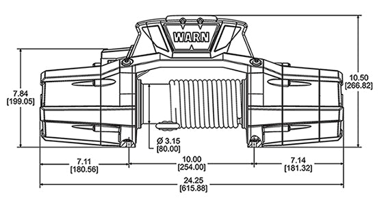 Line drawing of Zeon 12 winch