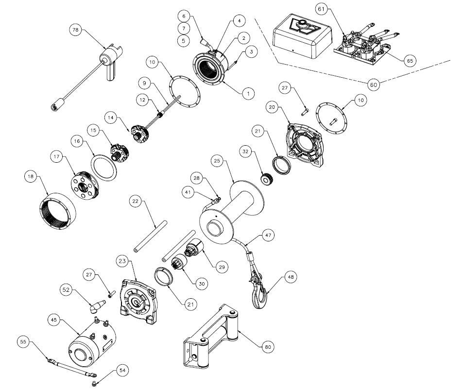 34 Warn Atv Winch Parts Diagram