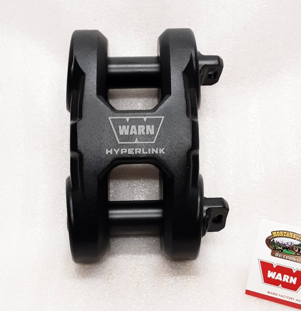 WARN 100630 Epic HyperLink Dual Pin Shackle, Black