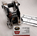 WARN 100945 Epic HyperLink Dual Pin Shackle, Polished, 36,000 lb working load