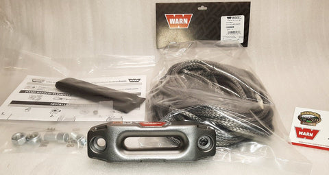 WARN 100969 Synthetic Rope Kit for ATV & UTV Winch