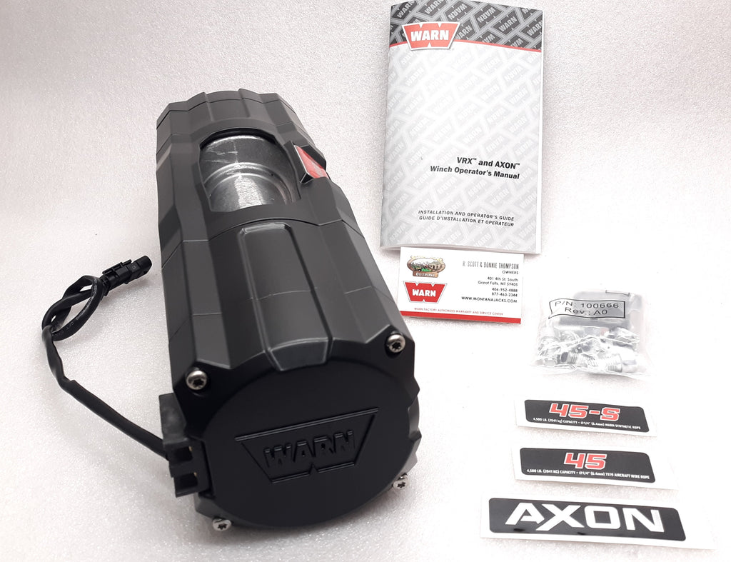 WARN 101144 AXON 45 Replacement Winch (Bare Winch)