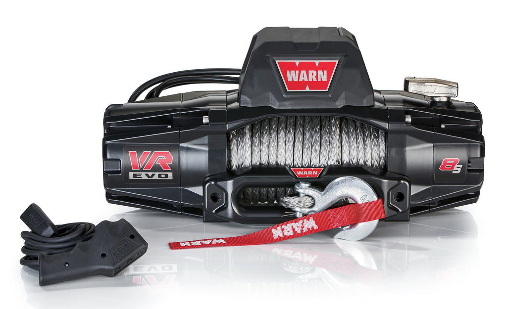 WARN 103251 VR EVO 8-S Truck, Jeep, SUV Winch, 8,000 lb, Synthetic Rope