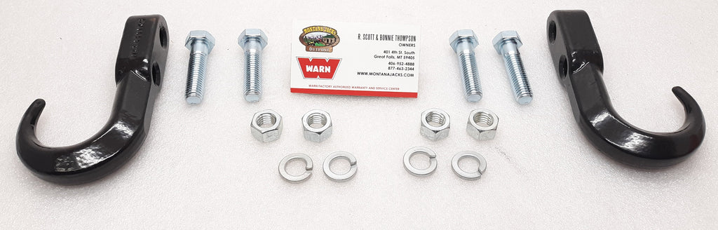 WARN 13230P Tow Hook, Pair
