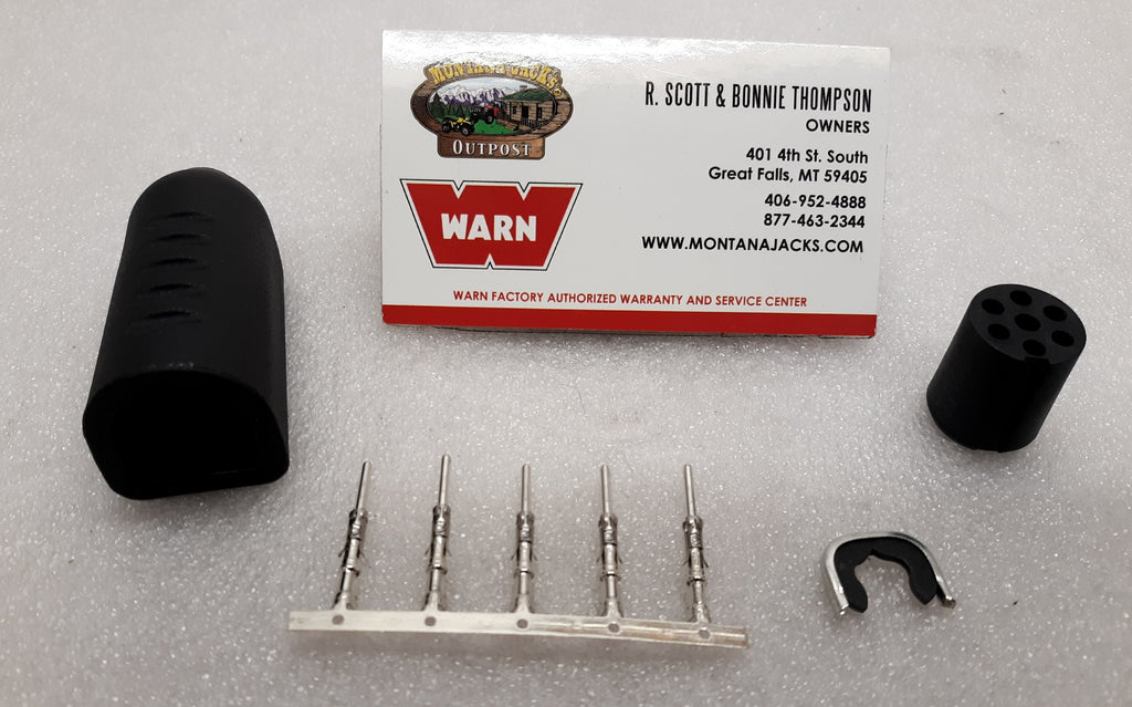 "WARN 14469 Remote Plug Repair Kit, for winches with ""D"" shaped socket"