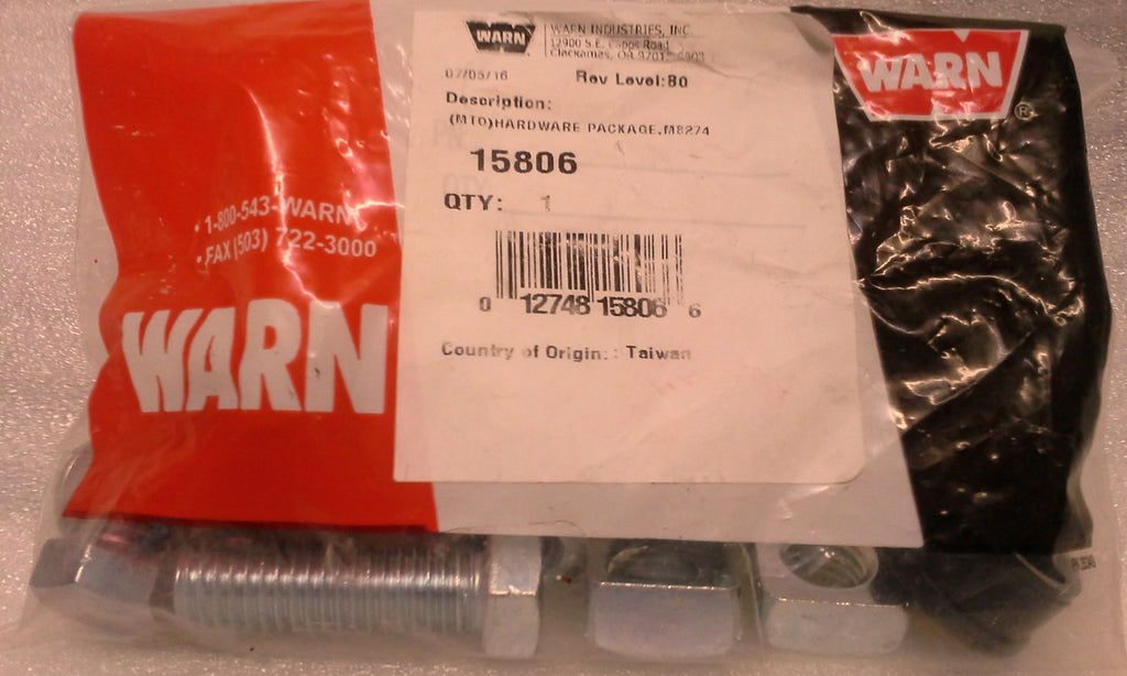 WARN 15806 Hardware Package for M8274-50 Truck Winch